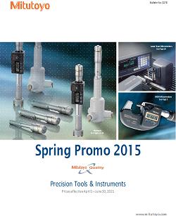 Cover Mitutoyo Spring Promo 2015
