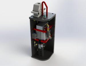 Custom test machine render
