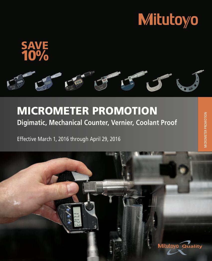 Mitutoyo Micrometer Promotion