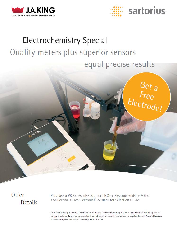 Sartorius Free Electrode Promo