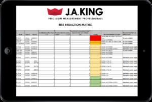 J.A. King Risk Reduction Matrix[J