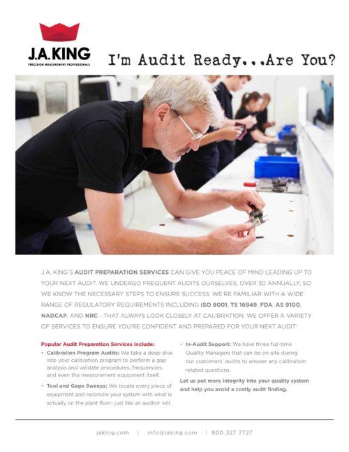 J.A. King Audit Preparation Services Brochure Preview