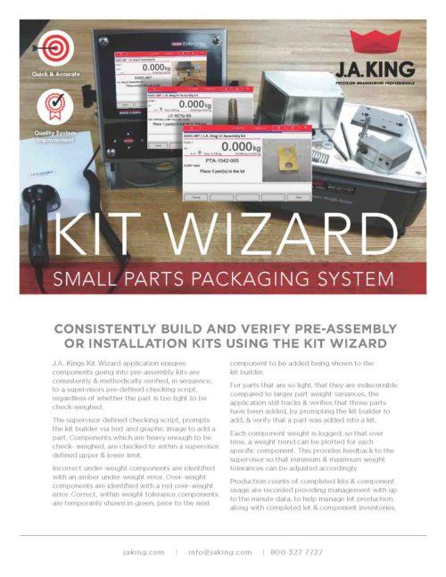 J.A. King Kit Wizard Sheet Preview