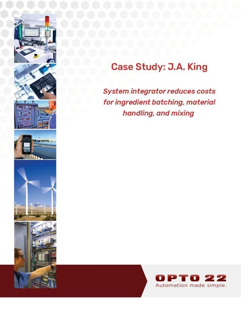 OPTO22 J.A. King Case Study
