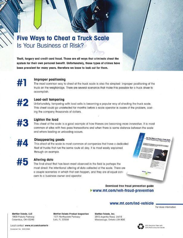 Mettler Toledo - Five Ways to Cheat a Truck Scale