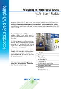 Weighing in Hazardous Areas 1